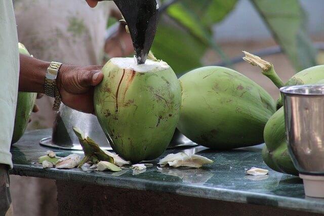 как открыть кокос