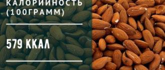 калорийность миндаля