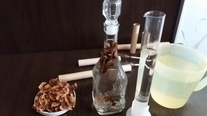 Самогон на перегородках грецкого ореха