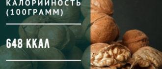 Сколько калорий в грецком орехе