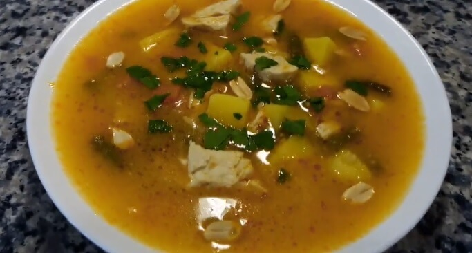 суп с арахисом